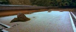 Ryoanji, a Zen karesansui rock garden in Kyoto
