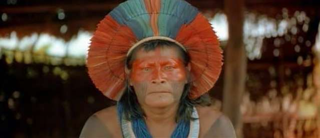 Yanomami indian from rainforest in Brazil.