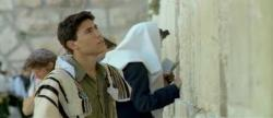 Army soldier in west wall in Israel