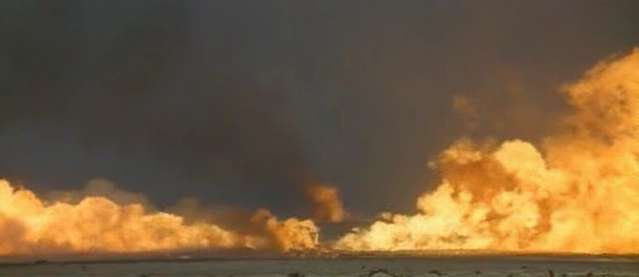 Kuwaiti, Iraq: oil fire