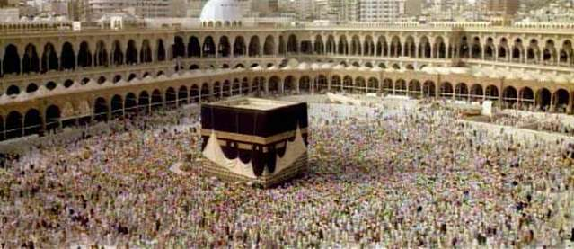 Kabba in Mecca, the rotating crowd, wanting to reach the Nirvana :)
