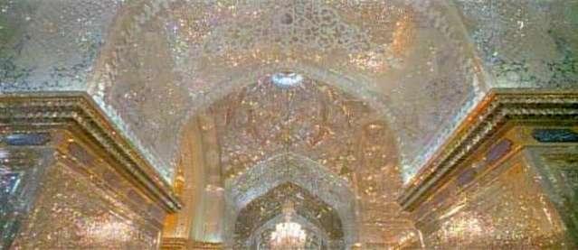 Mausoleum of Shah-e-Cheragh in Shiraz, Iran.