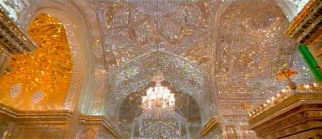 Mausoleum of Shah-e-Cheragh in Shiraz, Iran.