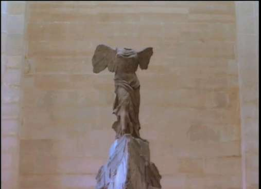 Winged Victory aka Nike of Samothrace, now at the Louvre in Paris.