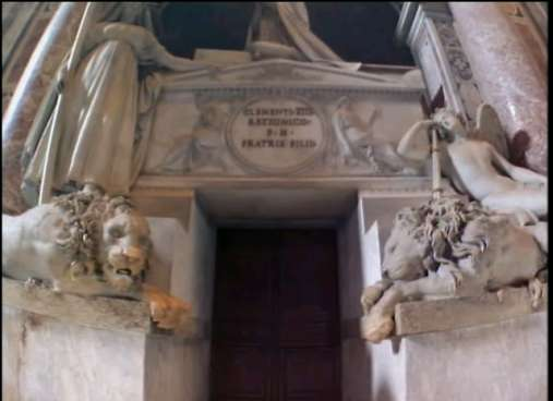 Lions at the tomb of Pope Clement XIII, St. Peters, Vatican