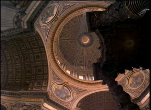The baldachin and heaven of St. Peter's catherdral, Rome