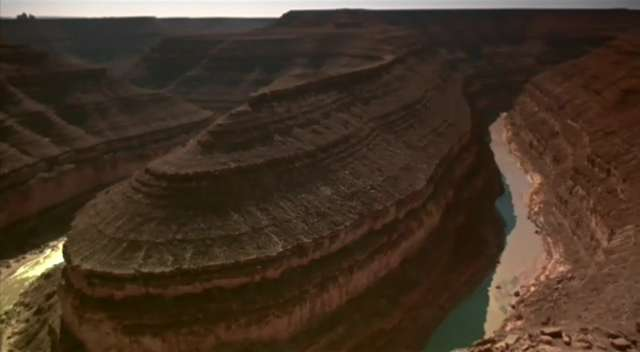This is the Goosnecks of the San Juan near Mexican Hat, Utah