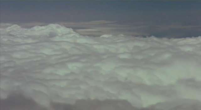 The view from above the clouds
