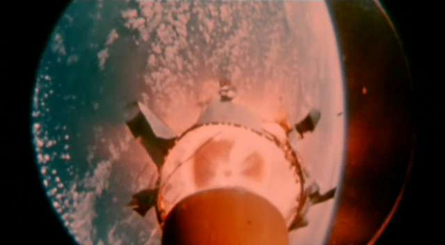 Space rocket stage separation