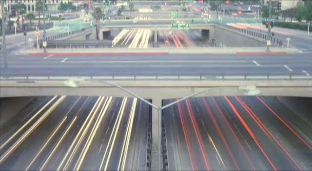 101 Freeway near Alameda Street,  L.A.