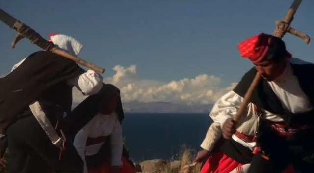 Island of Tacquile, Lake Titicaca - Peru