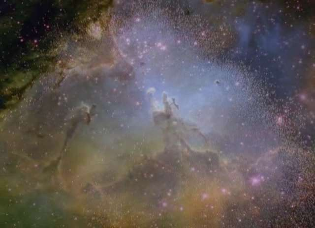 "Eagle Nebula - Wide Field of ""Pillars of Creation"" made famous by HST."