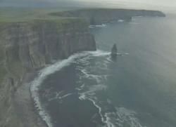 This is the Cliffs of Moher of Co. Clare in the west of Ireland.